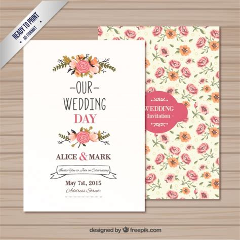 wedding invite template download wedding invitation template vector free download