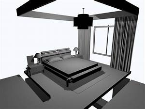 Simple Bedroom Interior Design    3ds  3d Studio Max Software  Architecture Objects