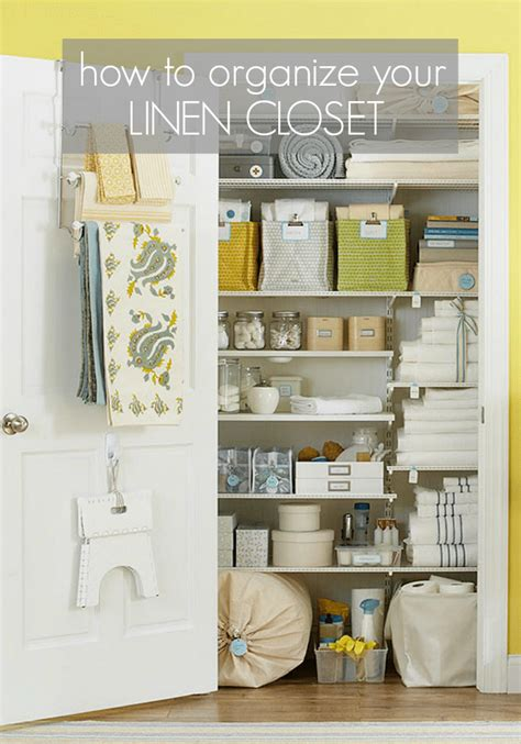 Organizing The Linen Closet  Somewhat Simple