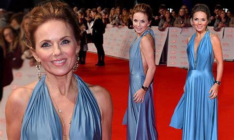 Geri Horner Cuts An Elegant Figure In Silk Gown