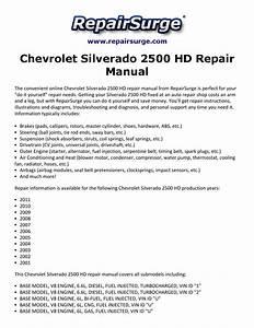 Chevrolet Silverado 2500 Hd Repair Manual 2001