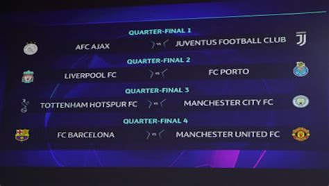 Champions League: Manchester United draw Barcelona in ...