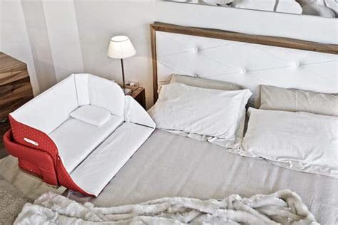 The Culla Belly Cosleeper Attaches Onto Beds For Easy