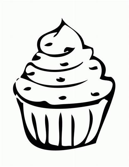 Cupcake Gambar Coloring Kartun Mewarnai Birthday Kue