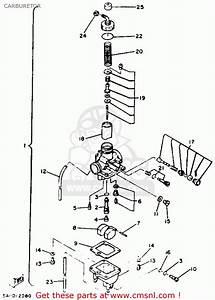 Yamaha Xt125 Dual Purpose 1982  C  Usa Carburetor