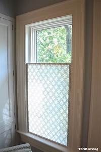 How to make a pretty diy window privacy screen bathroom for How to make bathroom window private