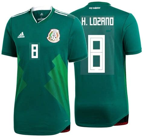 cd5353746d6 hirving lozano of adidas mexico soccer jersey adidas hirving lozano mexico  authentic match home jersey