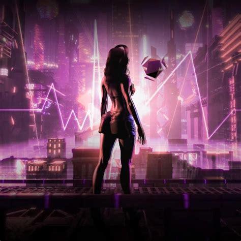 cyberpunk girl beats fever rgb aura wallpaper engine