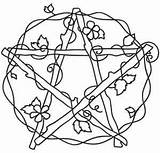 Embroidery Pentacle Patterns Coloring Pagan Urbanthreads Witch Wiccan Venus Urban Adult Pentangle Pentagram Threads Cross Drawings Stencil Pintar Unique Crafts sketch template
