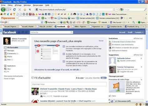 Une Nouvelle Page D'accueil Pour Facebook Figaronron