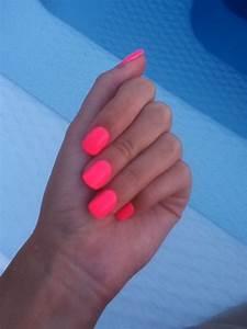 Neon pink nails! | Neon ☆ミ ☆彡 | Pinterest