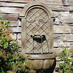 Outdoor wall water fountains and water features for Outdoor patio fountains