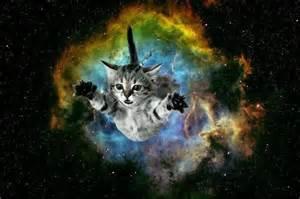 galaxy cat cat bursting from galaxy background galaxy