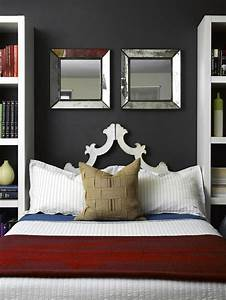 Wall mirrors and modern bedroom decorating ideas