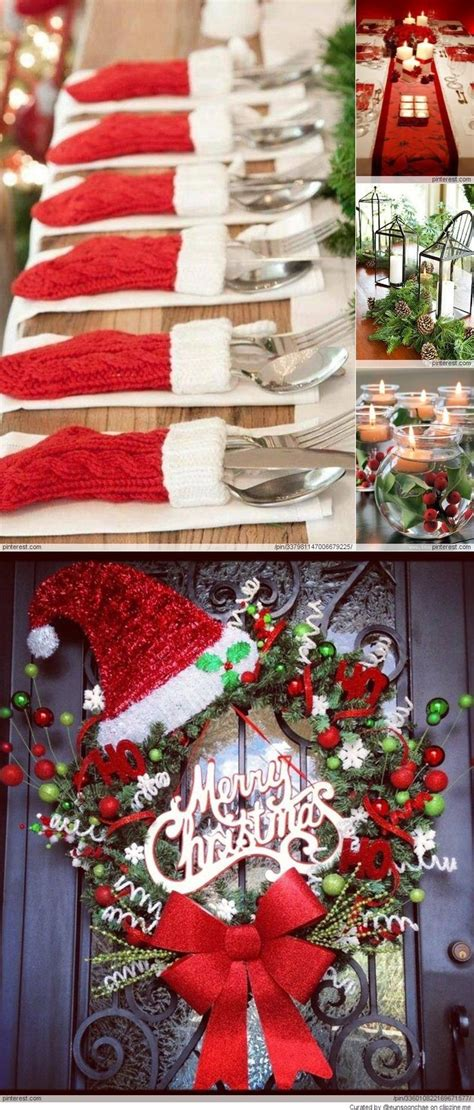 christmas decorations silverwear placement for the