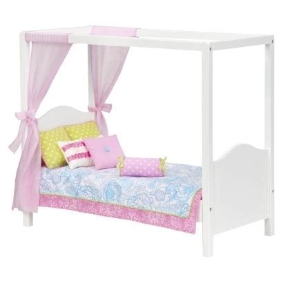 My Sweet Canopy Bed Pink (White)   Our Generation by Our