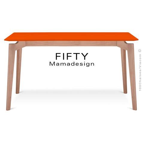table rectangulaire en bois de h 234 tre fifty plateau mdf