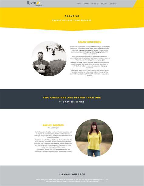 website design bjorn art  inspire karen jackson design
