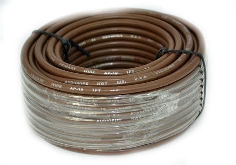 what color is the ground wire 10 ga 50 ft rolls primary auto remote power ground