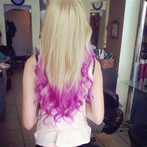 Brown Hair With Purple Tips Blonde Hair With A Light