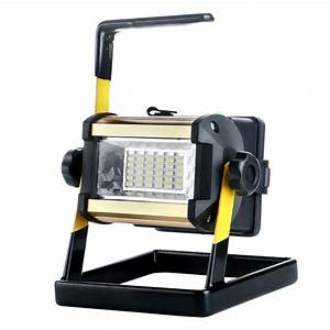 Rechargeable w led portable flood spot work light