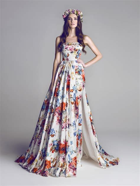 17 Floral Wedding Dresses You Can Shop Now Brit Co