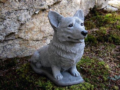 pembroke welsh corgi dog figure cement garden statues
