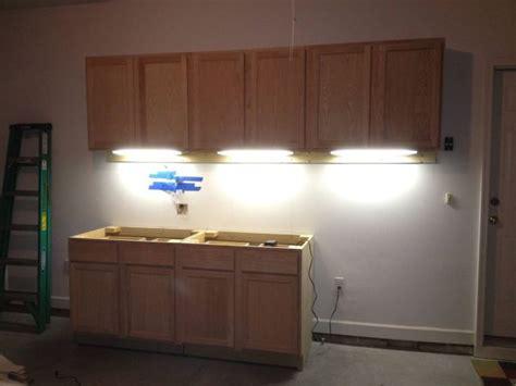 diy garage cabinets   cabinet lighting  tron