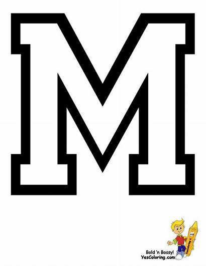 Coloring Alphabet Pages College Sports Football Printables