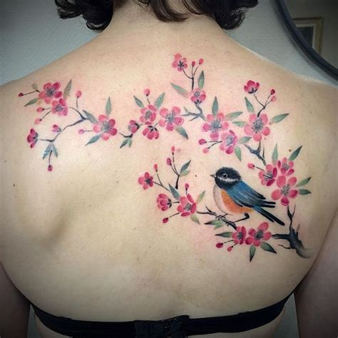 small cherry blossom tattoo ideas