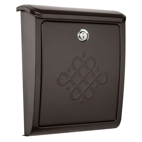 wall mount mailbox architectural mailboxes bordeaux locking rubbed bronze 4612