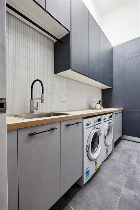 block  hallway laundry  powder room reveals