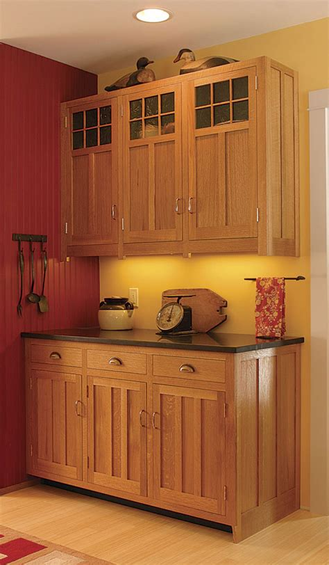 Craftsmanstyle Kitchen Cabinets  Finewoodworking