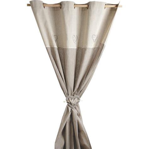 rideau coeurs gris avec embrasse nri1870 aubry gaspard