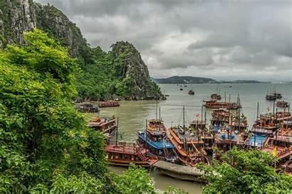 Vietnam Halong Bay Landscape Ecran Baie Paysage