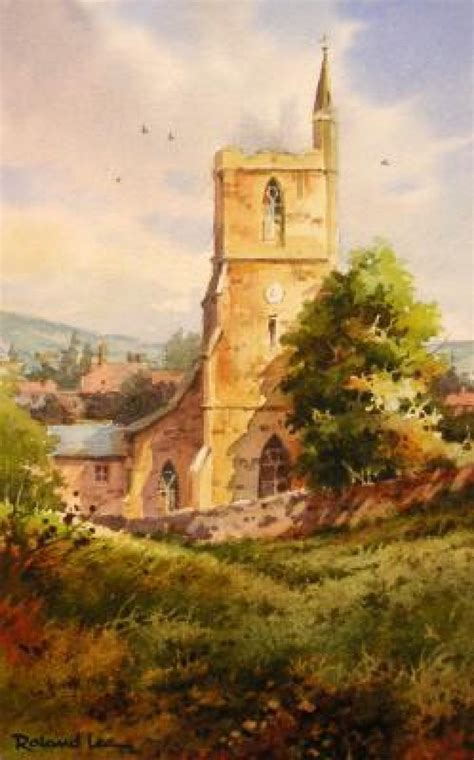 watercolor painting lesson english church roland lee