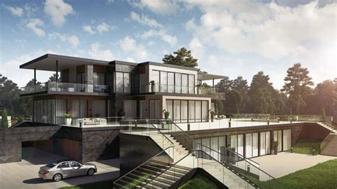 Home Design Visualiser : Exterior Rendering For A Luxurious House Project