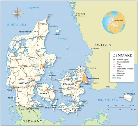 political map  denmark nations  project