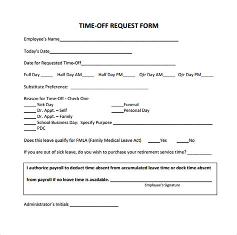 22297 request for time form time request form 24 free documents in pdf