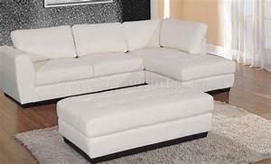 opal sectional sofa in white bonded leather match With white sectional sofa miami