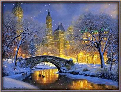 Winter Animated Christmas Snow Scenes Google Gifs