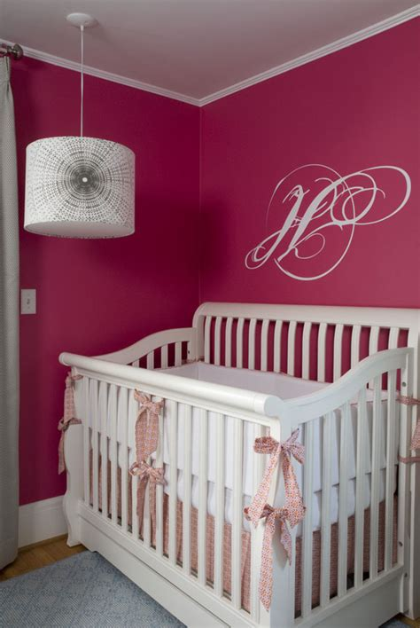 chic raspberry and gray nursery project nursery