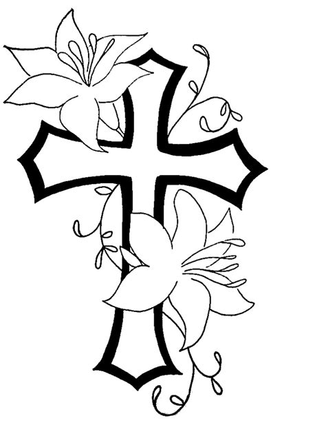 Free Simple Flower Outline, Download Free Simple Flower