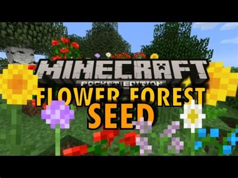 minecraft pe flower forest seed youtube