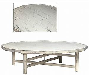 White cottage style coffee table decagon shape for Small cottage coffee table