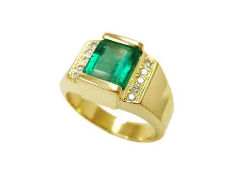 images  mens emerald rings  pinterest