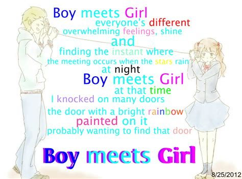 boy meets girl love quotes