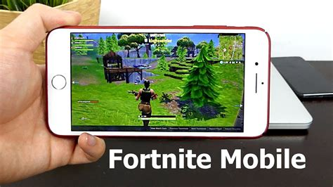 fortnite mobile gameplay  iphone  invitation graphics