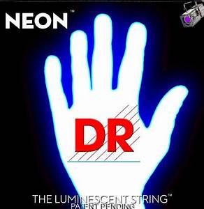 DR Hi Def White K3 Neon Luminescent Electric Bass NWB 45