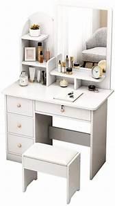 Penganguo, Vanity, Table, Dressing, Table, Modern, Minimalist, Bedroom, Storage, Multi